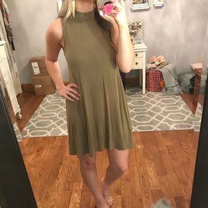 Dresses & Skirts - Olive mock neck dress